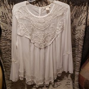 Tops - Plus Sz. Indigo Thread Blouse